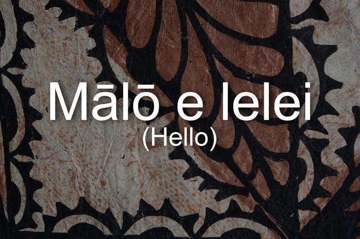 Samoan Language Resources - evl | electronic visualization ...