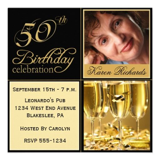 Best 25 50th birthday party invitations ideas on Pinterest