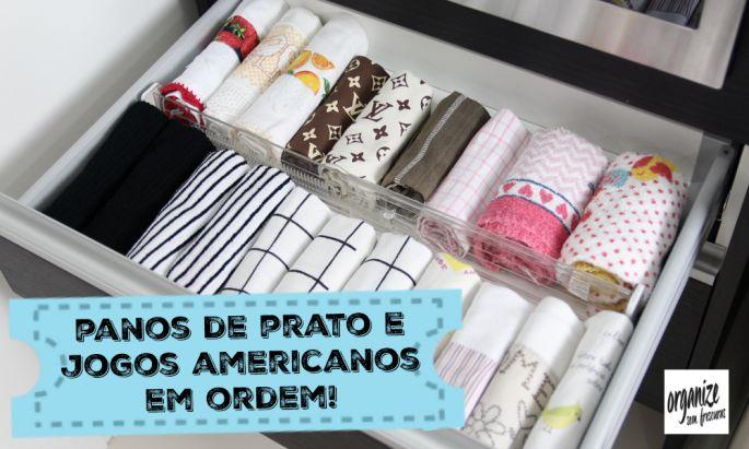 Quer deixar os panos de prato e jogos americanos organizados e práticos? No vídeo, Rafaela Oliveira mostra algumas ideias para deixa-los nos trinques!