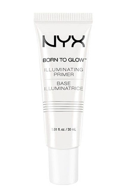 If traditional highlighting isn't your thing, try an illuminating primer. A pea-sized dollop of this stuff will instantly brighten your complexion.  Nyx Cosmetics Born To Glow Illuminating Primer, $14