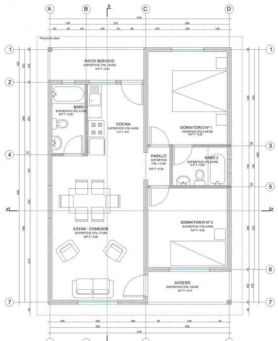 13 best planos images on Pinterest Blueprints for homes, Dorm - plan maison plain pied 200m2