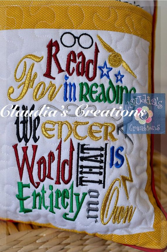 Harry Potter Inspired Embroidery Saying