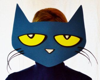Pete the Cat Printable Face Mask