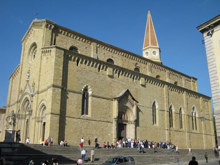 Arezzo, The Cathedral dedicated to S. Donato, protector Saint of the Tuscan city