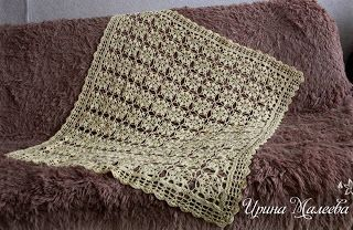 Tina's handicraft : crochet blanket with flowers squares