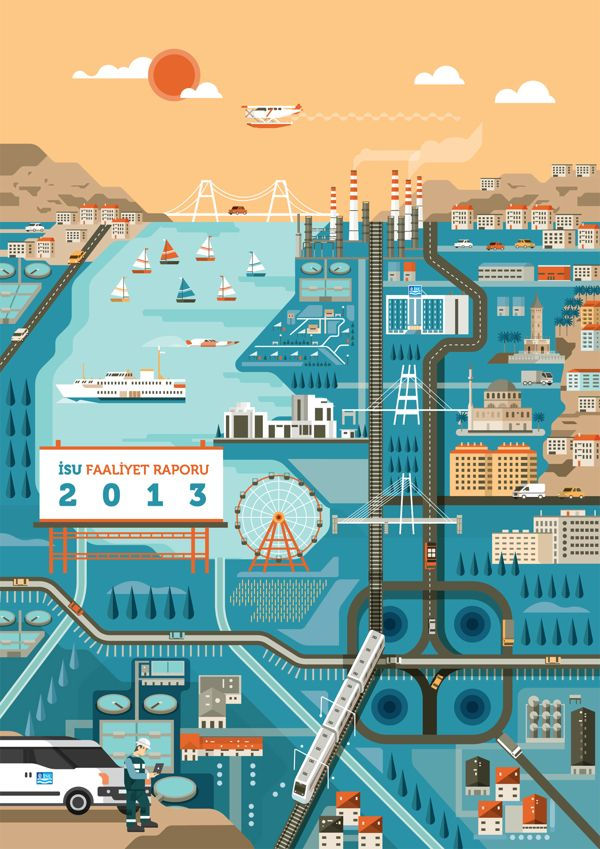 Izmit report 2013 - Cover illustration by Arunas Kacinskas, via Behance