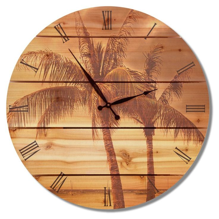 Gizaun Art Vintage Tropic Outdoor Wall Clock - VTC24