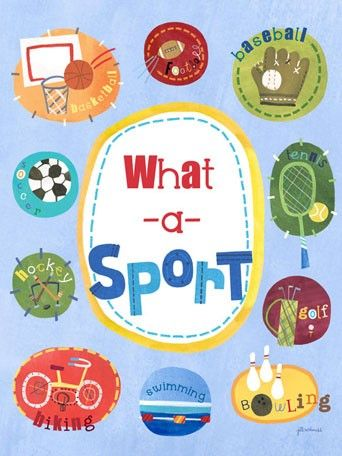 buy your what a sport poster wall decal by oopsy daisy here add some style to your childs room with the what a sport poster wall decal from oopsy daisy - Sports Images For Kids