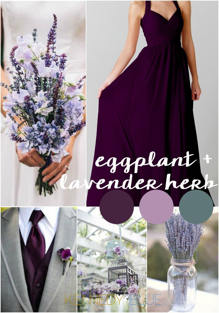 Eggplant and Lavender Herb are the perfect wedding color palette. | Pantone Wedding Colors for 2015