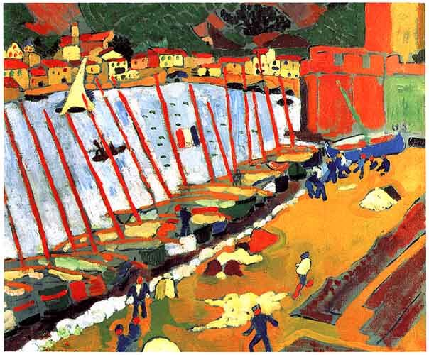 "During this time the wild, exploding colors, vibrant style and expressionistic art that shocked critics. ""Fauvism"" short lived movement. AZ"