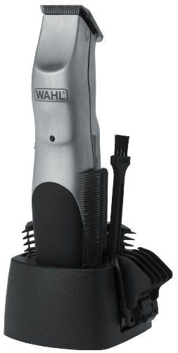 Wahl Groomsman Beard and Mustache Trimmer featuring Rechargeable Cord or Cordless Operations with LED and Acculock 6-position Trim Guide.