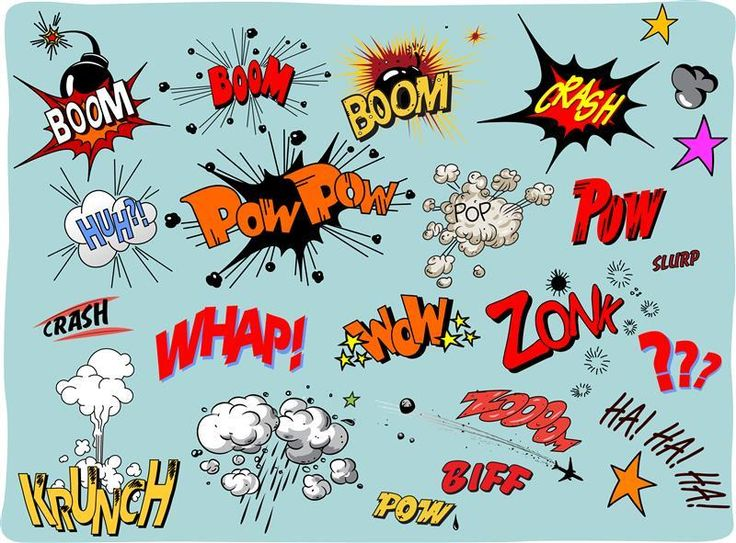 9 Best Onomatopoeia Images On Pinterest Superhero To Draw And