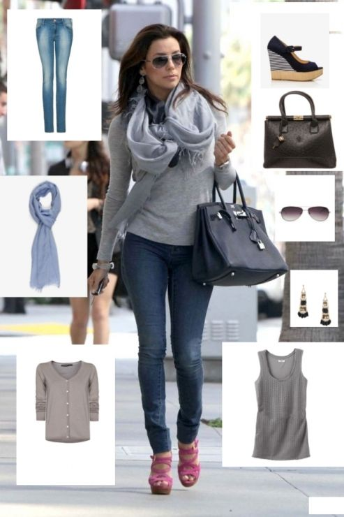 Stitch fix stylist: I like incorporating scarves into my look. I like everything except her shoes here.