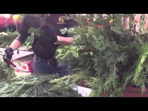 How to Create an Outdoor Christmas Planter from Van Belle Flowers & Chri...