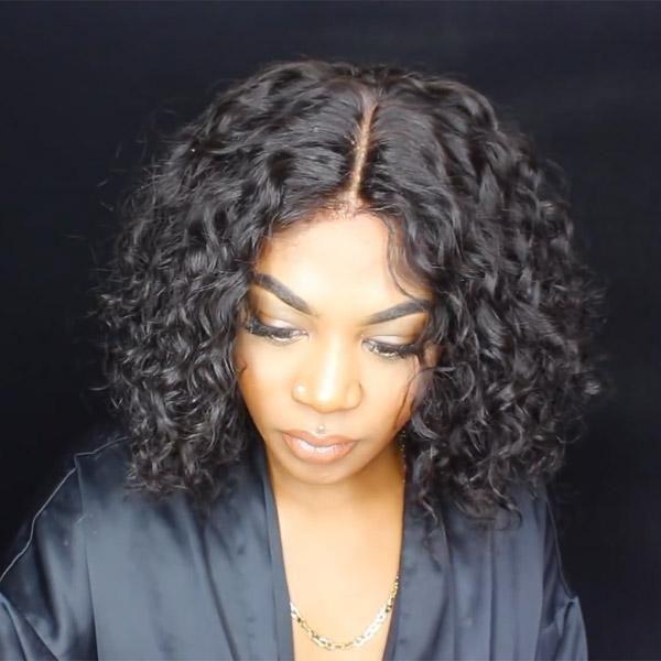Curly Bob Wig Human Hair Closure Wig Curly Bob Wigs Curly Hair Styles Naturally Human Hair Wigs