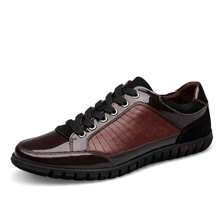 New Designer Flat Mens Shoes Genuine Leather Male Casual Footwear Size 37 38 to 45 46 Black Brown