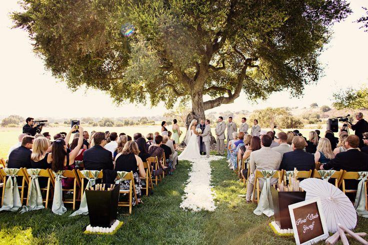 Tree Ceremony, Rustic Vineyard Wedding Santa Ynez Wine Country, Firestone Winery Crossroads Estate, Duet Weddings, Leigh Miller Photography, outdoor wedding inspiration