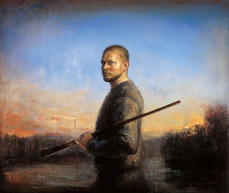 Selfportrait, Oil on canvas by Jonny Andvik