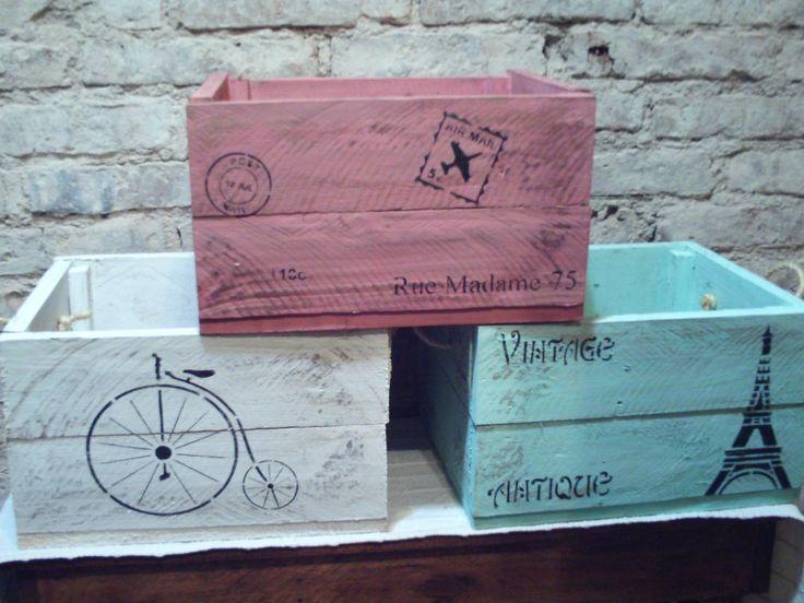 Comprar Cajones De Fruta Decorados Vintage