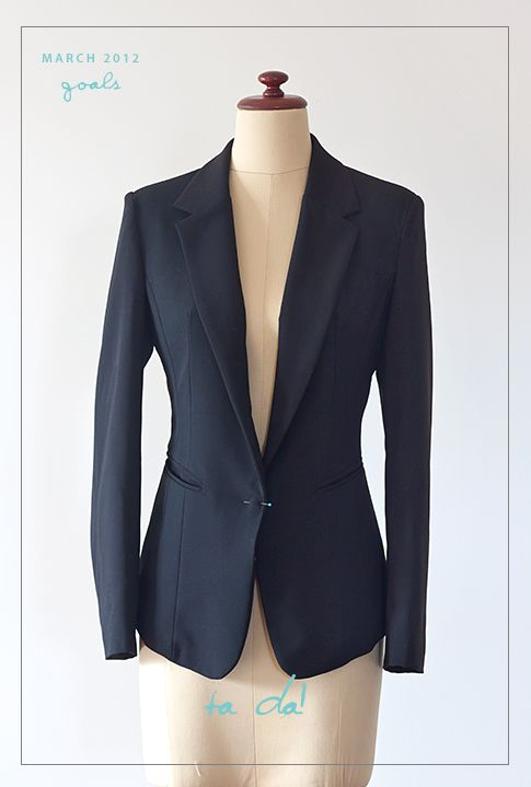 Pattern Runway: Goal 1 - Completed Tailored Jacket