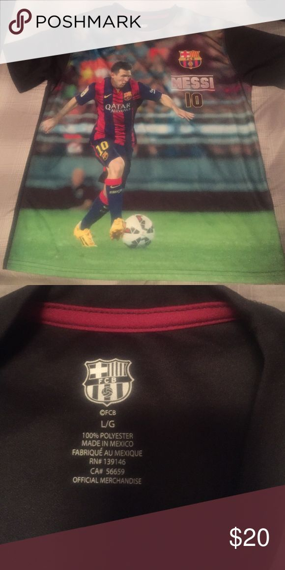 Lionel Messi Barcelona T Shirt Great Condition - Soft - Worn Once Nike Shirts & Tops Tees - Short Sleeve