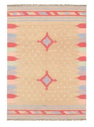 60% OFF Hand Woven Ankara Kilim, Pink, 4' 8