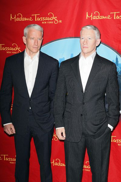 Anderson Cooper says his wax figure looks like a jerk