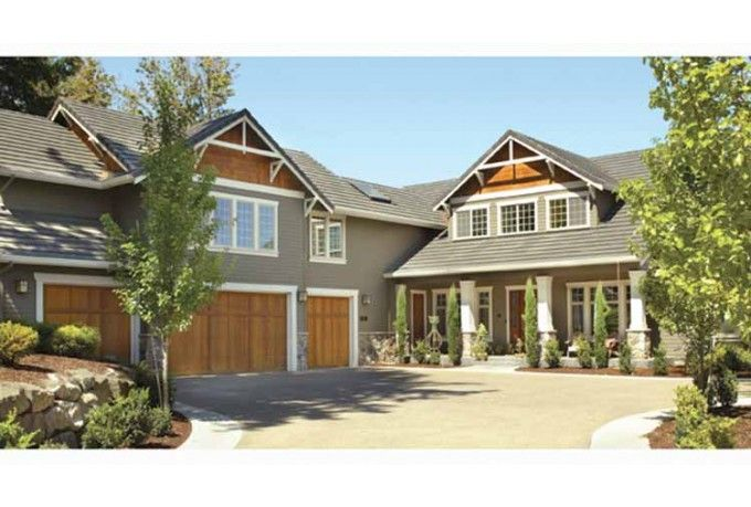 Beautiful rustic craftsman interesting l shape layout 2 for L shaped craftsman home plans