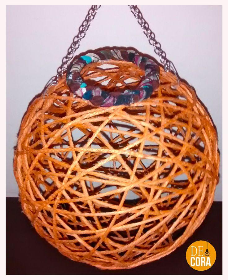 #Pantalla #yute color naranjo, grande :D ¡Consulte! #Decoración