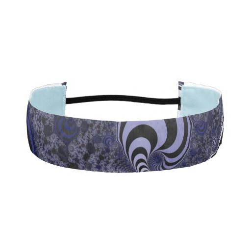 Blue and black striped fractal. athletic headband #headband #customized, personalized, artwork, buy, sale, #giftideas, #zazzle, shop, discount, deals, gifts, shopping, abstract, antenna, art, artwork, bee, black, #blue, bright, cold colors, computer, cool colors, duotone, #fractal, fractal art, fractal artwork, generated, illustration, julia, light, locator, mandelbrot, pattern, paw, square, striped, suction, white, strip, dark, funny strips, modern