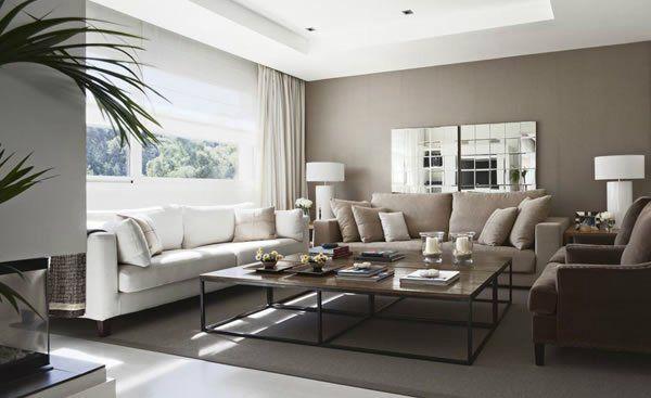 wohnzimmer beige grau | möbelideen, Esszimmer