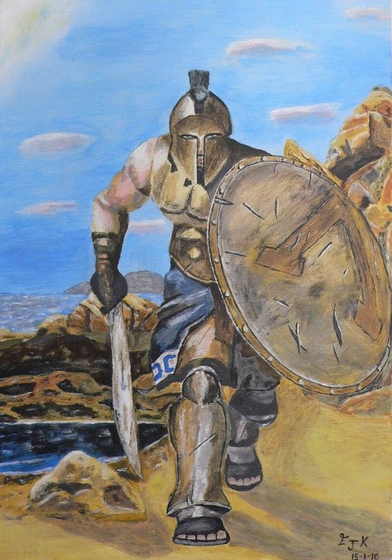 Spartan Warrior  Eric Kempson by ellenisworkshop on Etsy