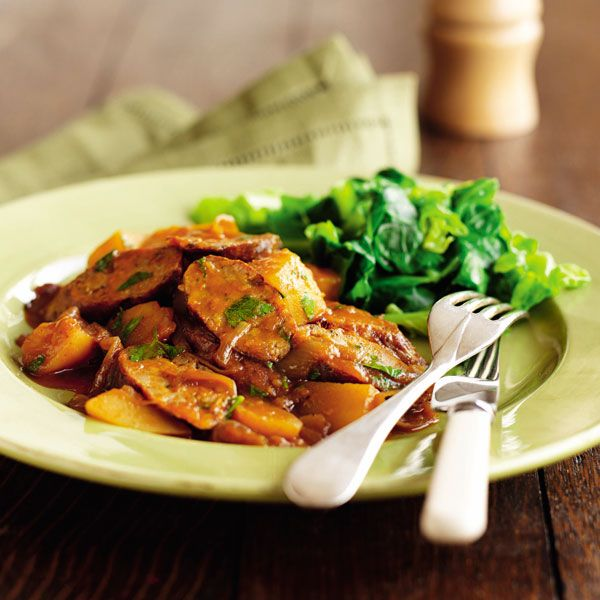 A hearty sausage casserole recipe made with onion, garlic, potatoes and a splash of Worcestershire sauce – it's an easy idea for a midweek meal.