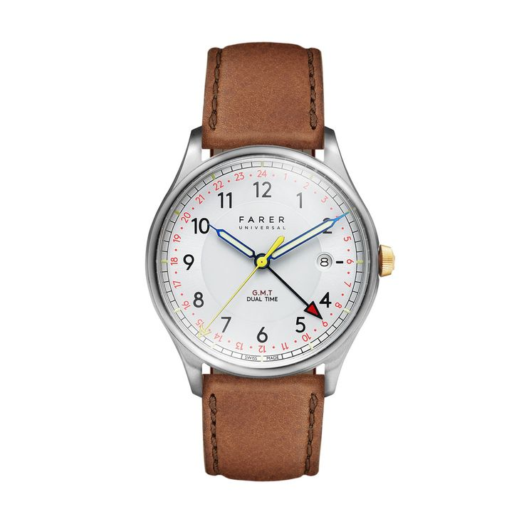 Farer Watch - Barnato - Silver GMT + Date - 39.5mm Case