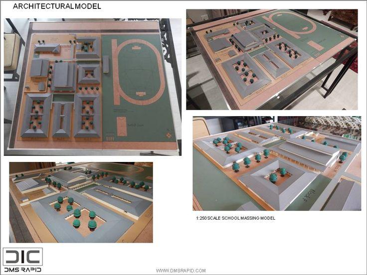 Typical school massing model