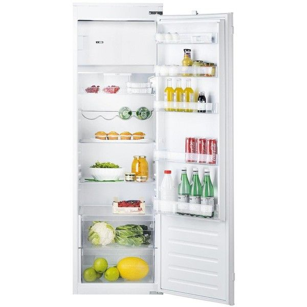 Hotpoint Hsz1801Aa 177Cm High 55Cm Wide Integrated Upright Fridge With... ($680) ❤ liked on Polyvore featuring home and home improvement