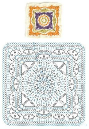Uncinetto E Crochet Quadrati Uncinetto Mandala Alluncinetto E