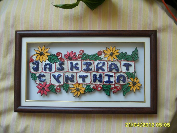 Handmade Name Plates Google Search