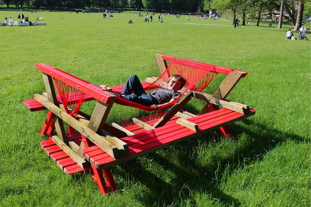 Picnic Table and Hammock in One Simple Design