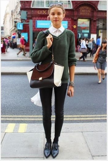 London street style, desperately want these Monk Strap pointed shoes