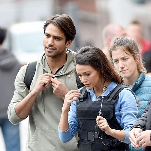 @michkeegan and @lucapasqualino on set in #Manchester today