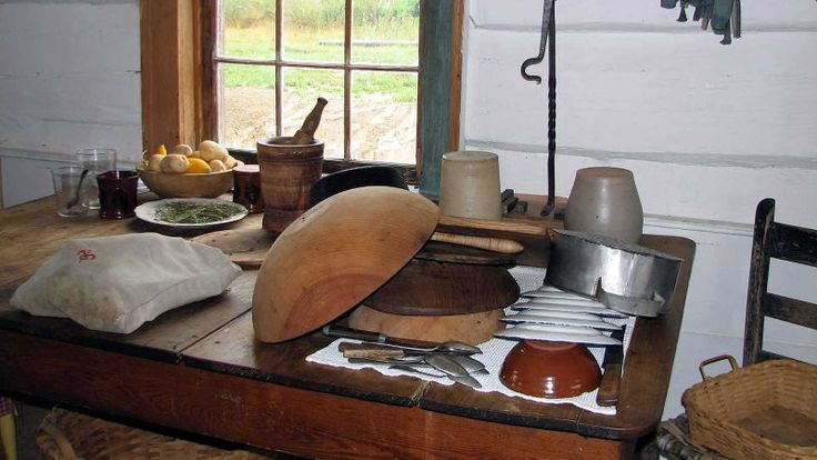 Farm kitchen cutlery and kitchenware.  15 Tools That Helped Pioneers Survive on the American Frontier