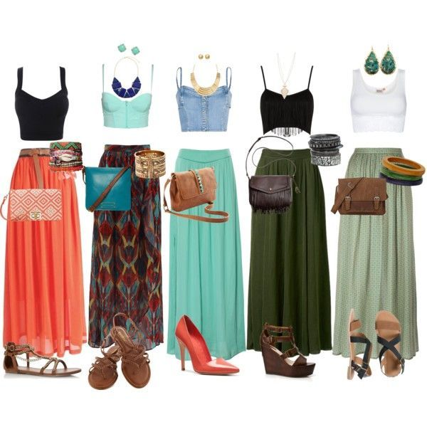 can t get enough of the crop top maxi skirt look so