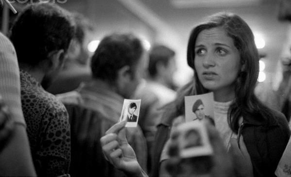 Greek-Cypriot woman looks for her husband after Turkish Invasion of Cyprus, 1974