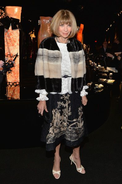 Anna Wintour - Arrivals at the Giorgio Armani SuperPier Show