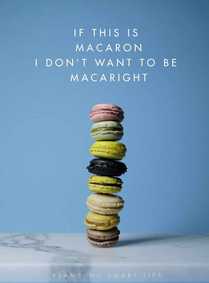 If this is macaron, I don't want to be macaright! #SamsungSmartTips #Macaron