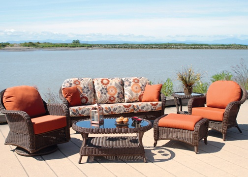 Patio Furniture At Its Finest. Classic Wovern Patio Furniture With  Sunbrella Outdoor Cushions.