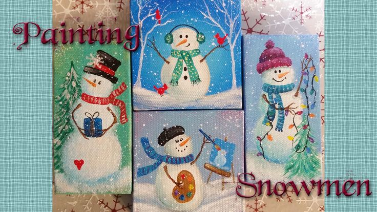 Join artist Angela Anderson for this Free LIVE stream painting lesson. Learn how to paint adorable snowman ornaments that you can make for your Christmas tre...