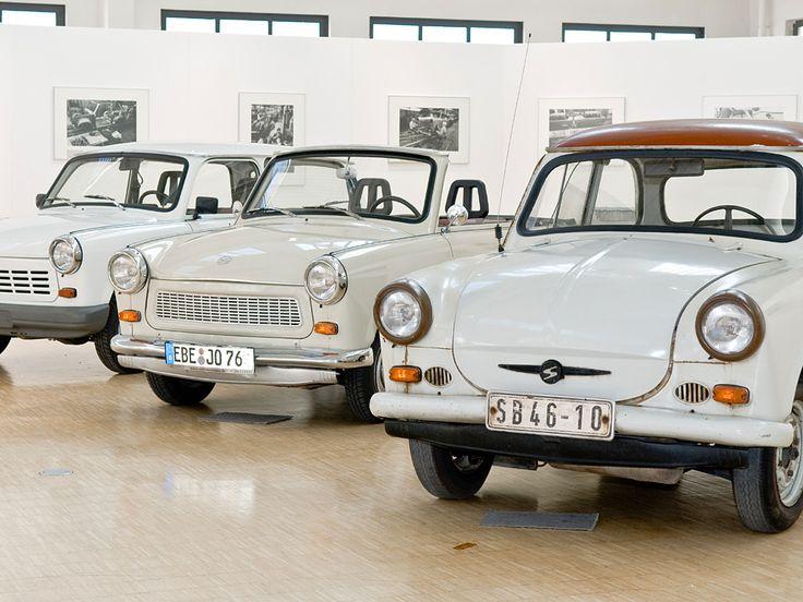 """Drei """"Original-Trabis""""   Foto: Deutsches Museum"""