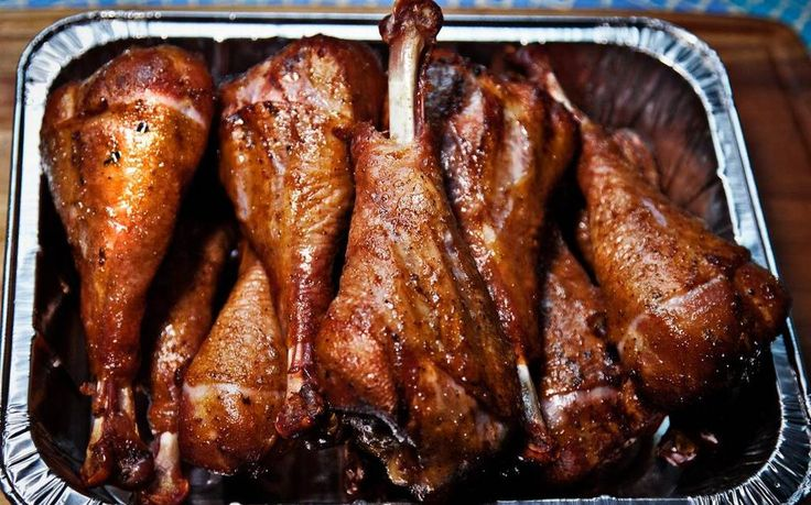 how to cook smoked turkey legs on a grill